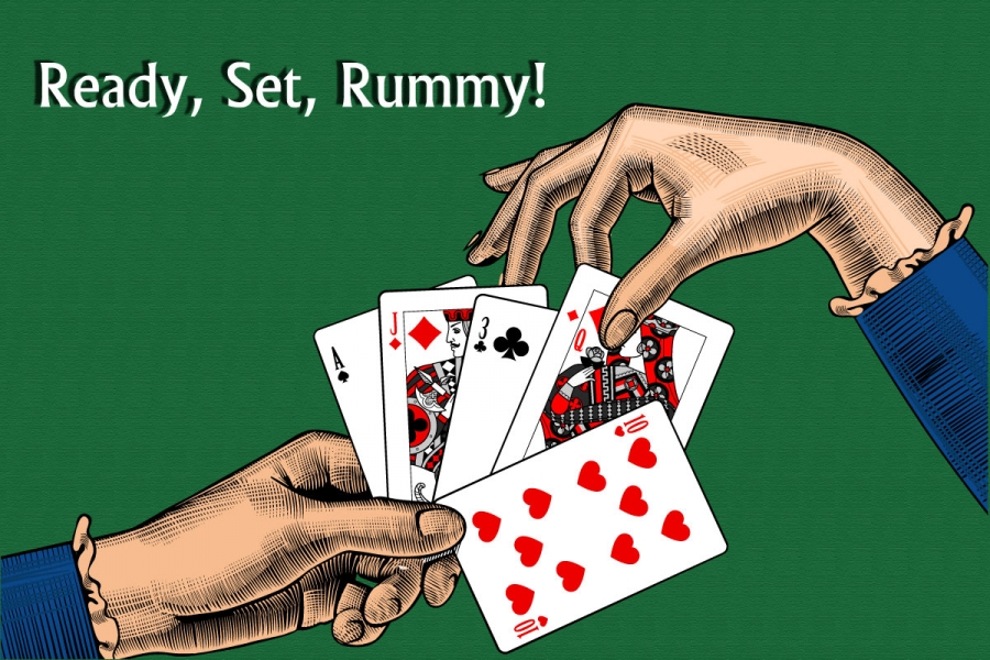 Playing online rummy game